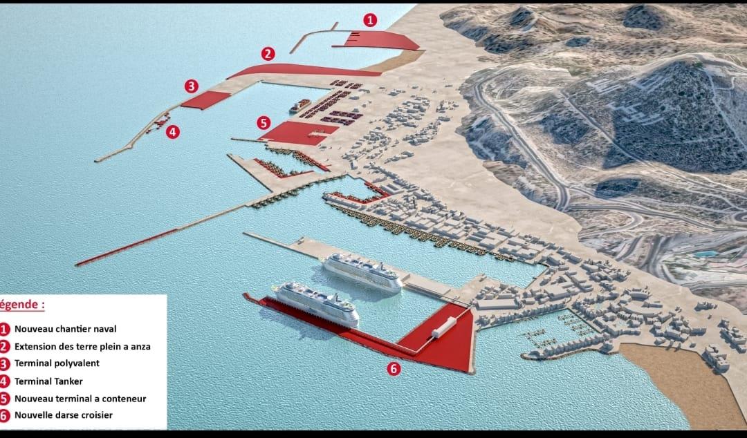 Réorganisation et Développement du complexe portuaire d'Agadir Plan%20de%20masse%20Variante%203